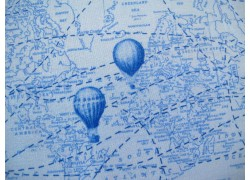Patchworkstoff blau Ballons Adventure Awaits Windham