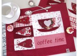 Tischset rot weiß
