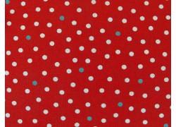 Fat Quarter Stoff Punkte rot grün creme von Moda