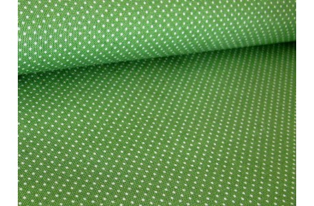 Westfalenstoff Pünktchenstoff grün Wales