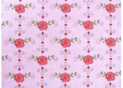 Baumwollstoff Blumenstoff rosa Prinzessin Anneli