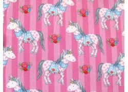 Baumwollstoff Einhorn rosa blau Prinzessin Anneli