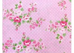 Patchworkstoff Rosenstoff rosa Charlotte