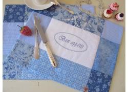 Tischset blau weiß