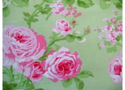 Patchworkstoff Rosenstoff grün Charlotte