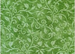 Patchworkstoff Blumenranken grün Hydrangea Birdsong