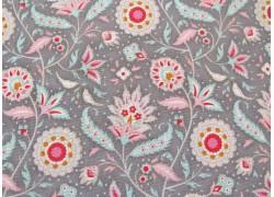 Tilda Stoffe Blumenstoff grau rosa Bon Voyage Birdvine