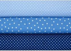 Stoffpaket Pünktchenstoffe blau