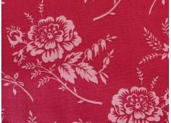 Patchworktstoff Riley Blake Blumenstoff rot Red Elegance