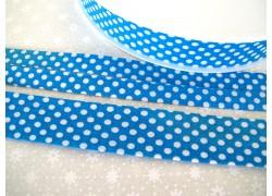 Schrägband blau weiß Punkte