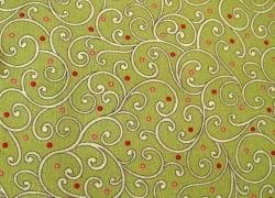 Quiltstoff Ranken grün Rose Garden Patchworkstoff