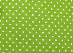 Baumwollstoff Pünktchenstoff grün Judith