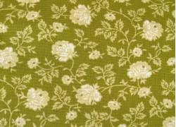 Patchworkstoff Pirouette grün Blumenstoff
