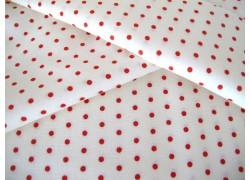Stoff Pünktchen rot weiß Victoria Moda Patchworkstoff