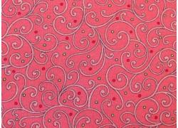Quiltstoff Ranken Kringel rosa Rose Garden