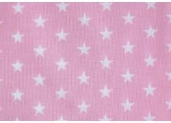 Baumwollstoff Sternchenstoff rosa weiß