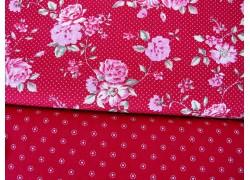 Stoffpaket rot rosa Rosen Puntke