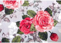 Quiltstoff Rose Garden rosa grau Patchworkstoff