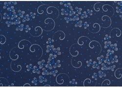 Patchworkstoff dunkelblau Blumen Danbury