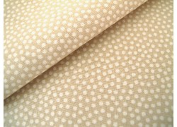 Baumwollstoff beige sand Punkte Dotty
