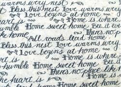 Quiltstoff Schrift Text HOME Kathy Schmitz Moda