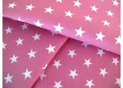 Sternchenstoff antik rosa weiß Baumwollstoff