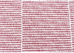Quiltstoff Buchstaben rot The Print Shop Moda Patchworkstoff
