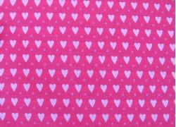 Baumwollstoff Herzchen rosa pink Kim