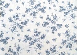 Baumwollstoff Blumenstoff grau weiß