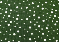 Patchworkstoff Punktestoff dunkelgrün Winterberry