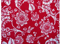 Westfalenstoff Blumenstoff rot weiß Heidelberg