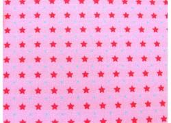 Kinderstoff Baumwolle Sterne rosa pink Kim