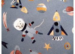 Westfalenstoff Astronauten Junge Linie grau