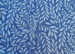 Fat Quarter Blätter Ranken blau