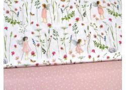 Stoffpaket Daniela Drescher Elfenstoff rosa weiß