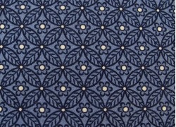 Designerstoff Blumen Ornamente Winterbourne Collection blau