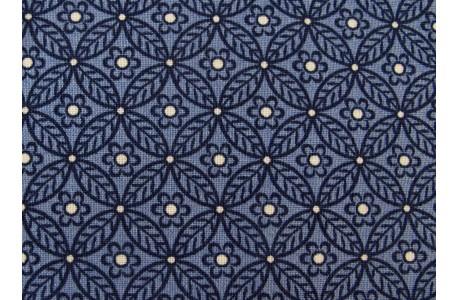 Designerstoff Blumen Ornamente Winterbourne Collection blau