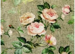 Rosenstoff grün rosa Rosalinda Quiltstoff