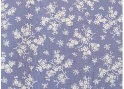 Baumwollstoff Blümchenstoff lila weiß