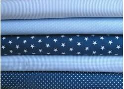 Stoffpaket Baumwolle blau