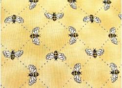 Kinderstoff Baumwolle Bienen ocker Bee Inspired