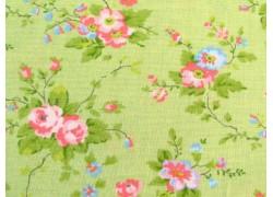 Rosenstoff grün rosa Finnegan Designerstoff