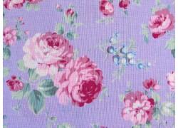 Rosenstoff lila Rococo & Sweet Quiltstoff