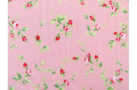 Quiltstoff Rosenstoff rosa Floral Collection
