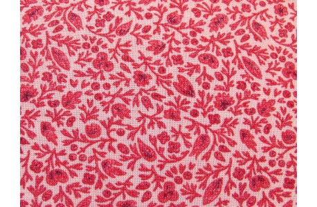 Designerstoff Blumenstoff rot rosa Chafarcani