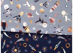 Stoffpaket Kinderstoffe Raketen Astronauten 72038
