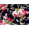 Rosenstoff schwarz rosa Victorian Blends Quiltstoff