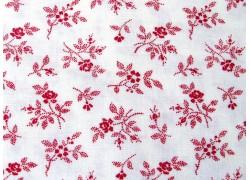 Patchworkstoff Rosenstoff My Redwork Garden