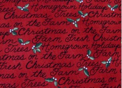 Weihnachtsstoffe Patchwork Homegrown Holidays rot