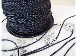 Gummikordel schwarz weiß 2mm